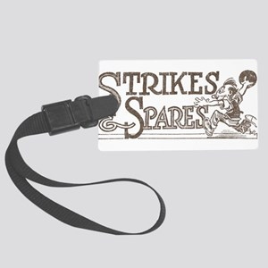 Bowling Strikes & Spares Large Luggage Tag