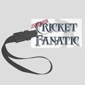 Cricket Fanatic Large Luggage Tag