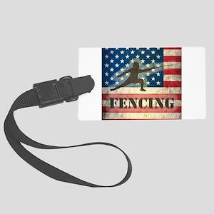 Grunge USA Fencing Large Luggage Tag