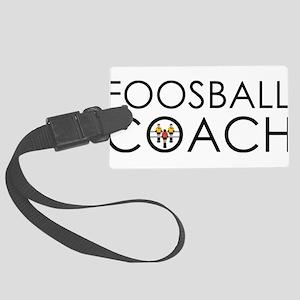 Foosball Coach Large Luggage Tag