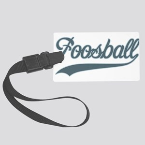 Retro Foosball Large Luggage Tag