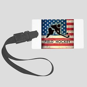 Grunge USA Field Hockey Large Luggage Tag
