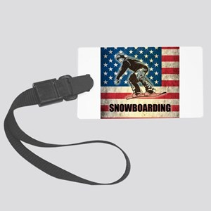 Grunge USA Snowboarding Large Luggage Tag