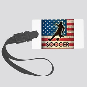 Grunge USA Soccer Large Luggage Tag