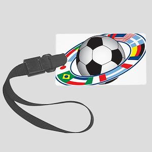Football Large Luggage Tag
