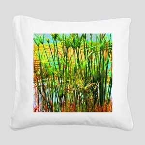 Reed Square Canvas Pillow