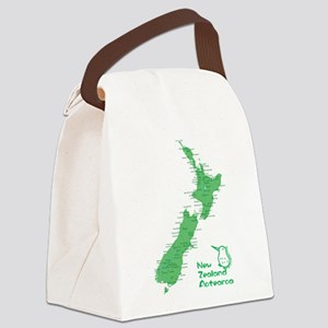 New Zealand Map Canvas Lunch Bag