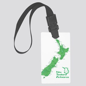 New Zealand Map Large Luggage Tag