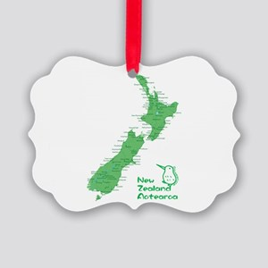New Zealand Map Picture Ornament