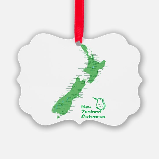New Zealand Map Ornament