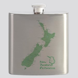 New Zealand Map Flask