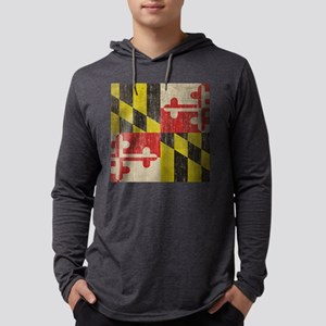 Vintage Maryland Mens Hooded Shirt