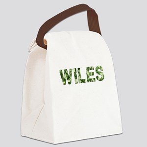 Wiles, Vintage Camo, Canvas Lunch Bag