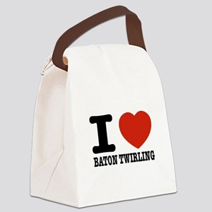 I love Baton Twirling Canvas Lunch Bag