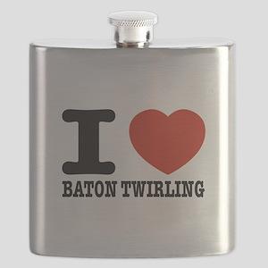 I love Baton Twirling Flask