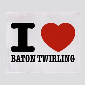 I love Baton Twirling Throw Blanket