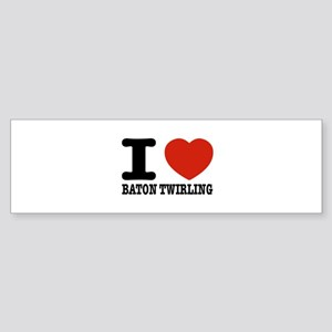 I love Baton Twirling Sticker (Bumper)