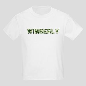 Wimberly, Vintage Camo, Kids Light T-Shirt