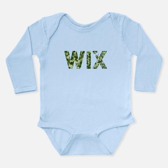 Wix, Vintage Camo, Long Sleeve Infant Bodysuit
