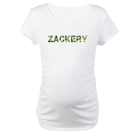 Zackery, Vintage Camo, Maternity T-Shirt