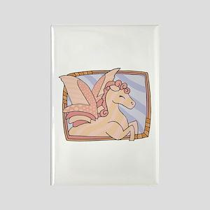Pink Pegasus Design Rectangle Magnet