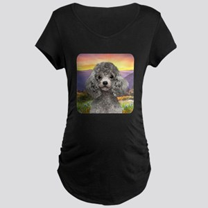 Poodle Meadow Maternity Dark T-Shirt