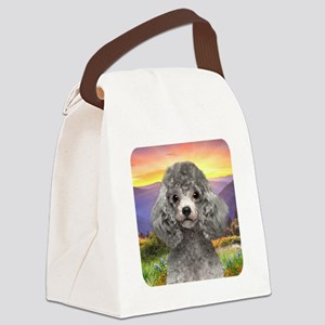 Poodle Meadow Canvas Lunch Bag