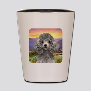 Poodle Meadow Shot Glass