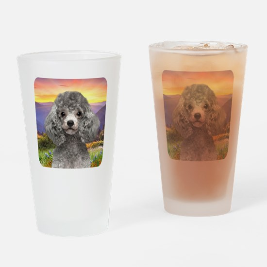 Poodle Meadow Drinking Glass