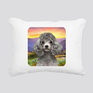 Poodle Meadow Rectangular Canvas Pillow