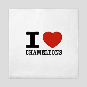 I love Chameleons Queen Duvet