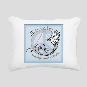 serenityDOVE001 Rectangular Canvas Pillow