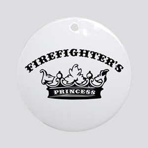Firefighter's Princess Ornament (Round)