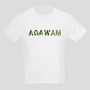 Agawam, Vintage Camo, Kids Light T-Shirt