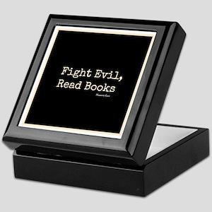 Fight Evil, Read Books Keepsake Box