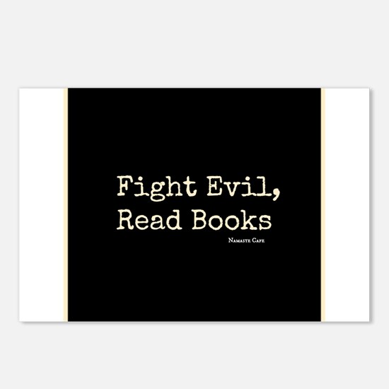 Fight Evil, Read Books Postcards (Package of 8)