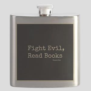 Fight Evil, Read Books Flask