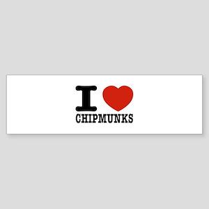 I love Chipmunks Sticker (Bumper)