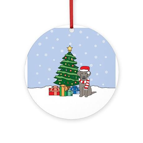 Weimaraner Christmas Round Ornament