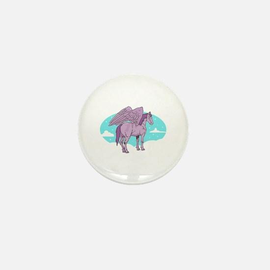 Purple Pegasus Mini Button
