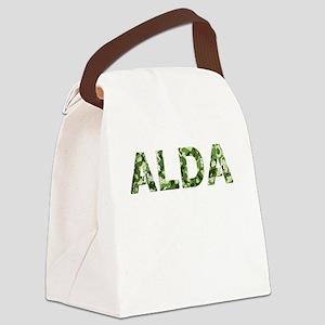 Alda, Vintage Camo, Canvas Lunch Bag