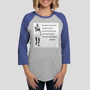 ghandi t-shirt Womens Baseball Tee