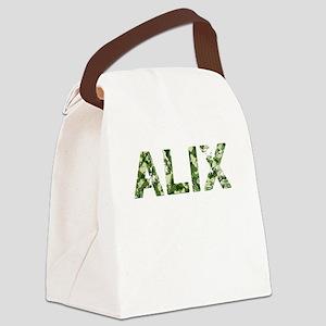 Alix, Vintage Camo, Canvas Lunch Bag