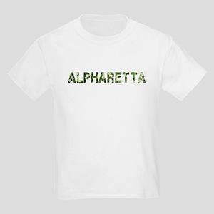 Alpharetta, Vintage Camo, Kids Light T-Shirt