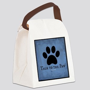Talk to the Paw Canvas Lunch Bag