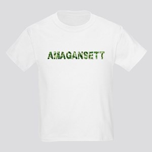 Amagansett, Vintage Camo, Kids Light T-Shirt