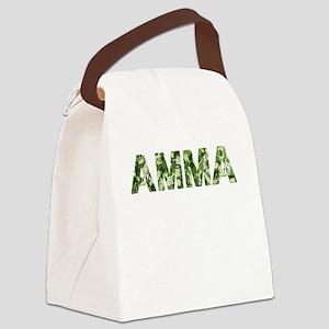 Amma, Vintage Camo, Canvas Lunch Bag