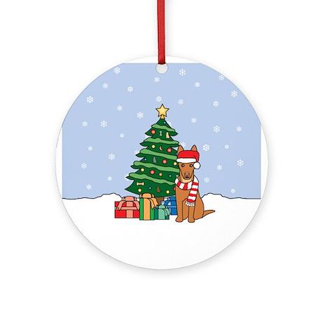 Pharaoh Hound Christmas Round Ornament