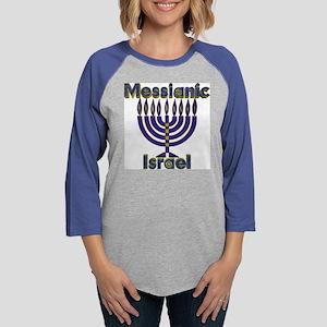 Messianic Israel Menorah Womens Baseball Tee