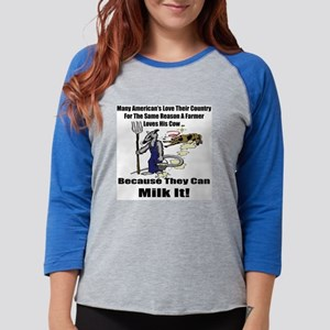 t-shirt milk it Womens Baseball Tee